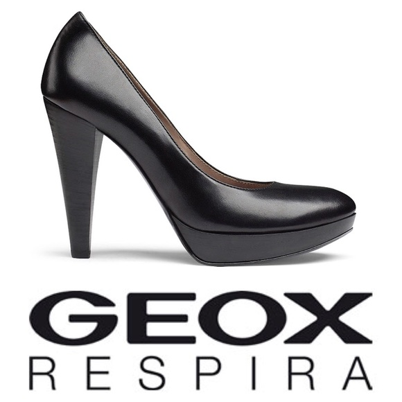 most popular good texture factory authentic Geox Respira D Keira A Pumps Black Leather